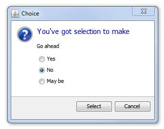 on a set of radio buttons  Yes No Radio Button